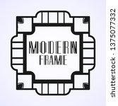 vintage ornamental modern art...   Shutterstock .eps vector #1375077332