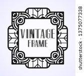 vintage ornamental modern art...   Shutterstock .eps vector #1375077338