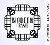 vintage ornamental modern art...   Shutterstock .eps vector #1375077362