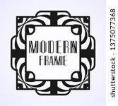 modern art deco frame. vintage...   Shutterstock .eps vector #1375077368