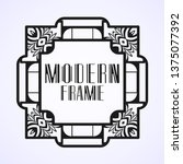 modern art deco frame. vintage...   Shutterstock .eps vector #1375077392