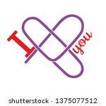 heart of paper clips.... | Shutterstock .eps vector #1375077512
