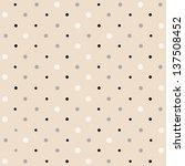 Polka Dots Pattern  Retro Style