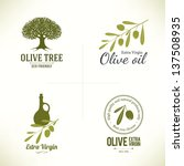 set of olive labels | Shutterstock .eps vector #137508935