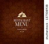 restaurant menu design | Shutterstock .eps vector #137508938