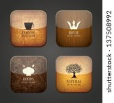 food and drink application icons | Shutterstock .eps vector #137508992