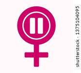 menopause icon in pink color....   Shutterstock .eps vector #1375104095