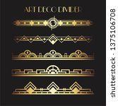 art deco divider. gold retro... | Shutterstock .eps vector #1375106708