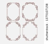 decorative vintage borders and...   Shutterstock .eps vector #1375107158