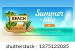 summer sale  discount banner... | Shutterstock .eps vector #1375122035