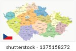 czech republic administrative... | Shutterstock .eps vector #1375158272