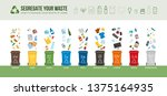 waste collection  segregation... | Shutterstock .eps vector #1375164935