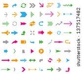 many arrows | Shutterstock .eps vector #137517482