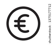 currency icon in trendy outline ...