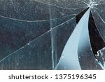 broken glass  background of... | Shutterstock . vector #1375196345