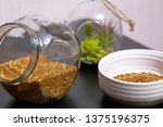 healthy food buckwheat porridge ... | Shutterstock . vector #1375196375