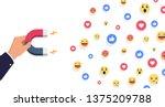 social influencer concept.... | Shutterstock .eps vector #1375209788