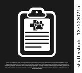 black clipboard with medical... | Shutterstock .eps vector #1375230215