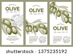 olive oil label set. vector... | Shutterstock .eps vector #1375235192