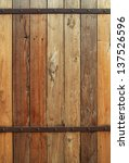 Wood Wall With Rusty Steel...