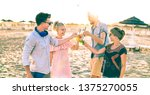 group of happy friends... | Shutterstock . vector #1375270055