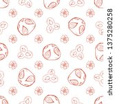hand drawn seamless pattern... | Shutterstock .eps vector #1375280258