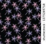 palm tree seamless pattern on...   Shutterstock .eps vector #1375285718