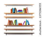 set of bookshelves with... | Shutterstock . vector #1375286555