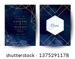 magic night dark blue cards... | Shutterstock .eps vector #1375291178