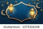 eid mubarak card decoration... | Shutterstock . vector #1375326248