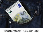 New Five Euro Banknote In The...