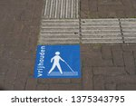 tactile pavement for blind... | Shutterstock . vector #1375343795