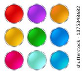 set beautiful shiny buttons on... | Shutterstock .eps vector #1375348682
