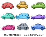 flat icons set transportation... | Shutterstock .eps vector #1375349282