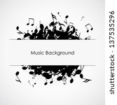 abstract music background with... | Shutterstock .eps vector #137535296