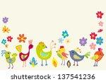 Funny Cartoon Color Birds...