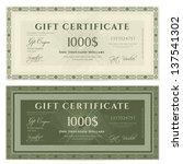 gift certificate   voucher... | Shutterstock .eps vector #137541302