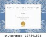 horizontal certificate of... | Shutterstock .eps vector #137541536