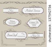 set of vintage vector labels ... | Shutterstock .eps vector #137542736