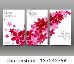 floral vertical banners for... | Shutterstock .eps vector #137542796
