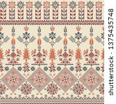 seamless pattern design with... | Shutterstock .eps vector #1375435748