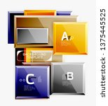 abstract square composition for ... | Shutterstock .eps vector #1375445525