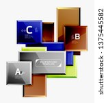 abstract square composition for ... | Shutterstock .eps vector #1375445582