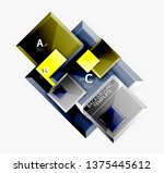 abstract square composition for ... | Shutterstock .eps vector #1375445612