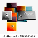 abstract square composition for ... | Shutterstock .eps vector #1375445645