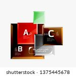 abstract square composition for ... | Shutterstock .eps vector #1375445678