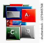 minimal square banner abstract... | Shutterstock .eps vector #1375445768