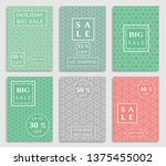 sale banners  flyers with... | Shutterstock .eps vector #1375455002