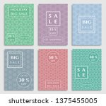 sale banners  flyers with... | Shutterstock .eps vector #1375455005