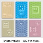 sale banners  flyers with... | Shutterstock .eps vector #1375455008